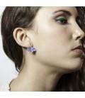 Boucle d'oreilles bleues Adela