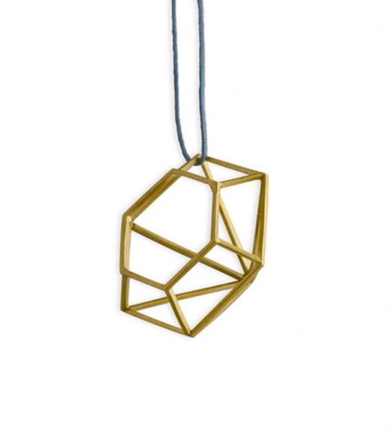 Collar de plata Amantes bañado en oro