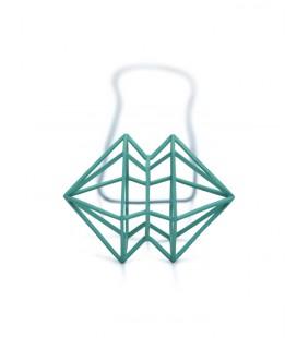 Collier vert Siamois X