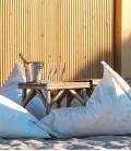 Pouf en voile de bateau recyclée - Génois