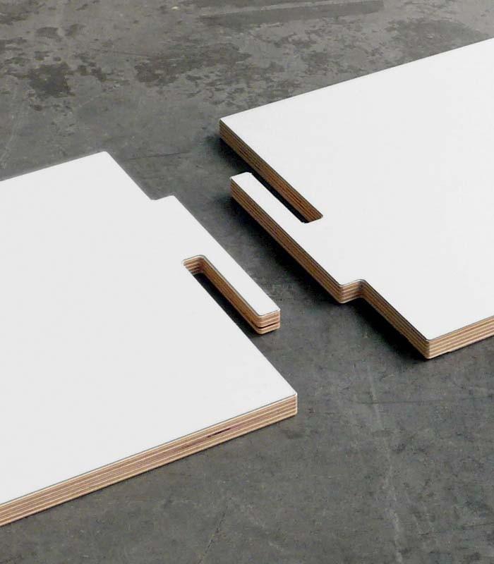 Librer a modular en madera de abed l blanco coolfidential - Madera de abedul ...