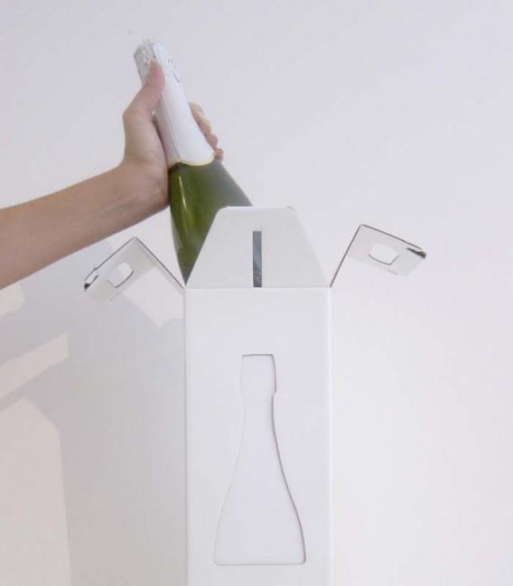 Lampe design et étui cadeau pour champagne - Nysa