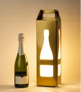 Lámpara de diseño y estuche regalo de botella de champán - Nysa