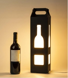 Lámpara de diseño y estuche regalo de botella de vino - Baco