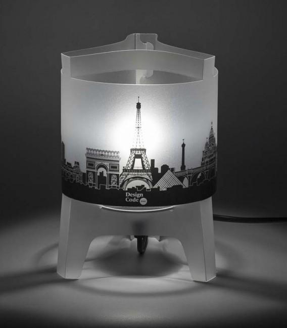 Lampe graphique - skyline de villes emblématiques