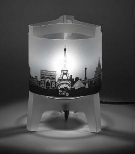 Lámpara de sobremesa gráfica City - skyline de ciudades emplemáticas