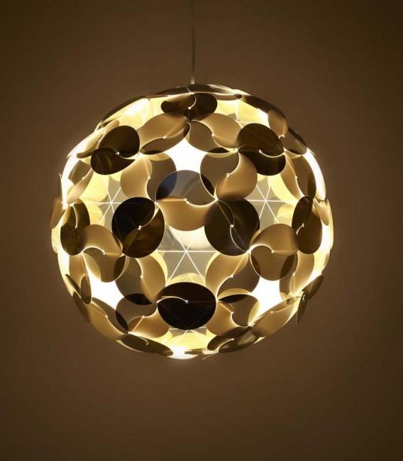 Suspension sphère dorée et blanche - Ego Dama