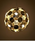 Abat-jour suspension sphère dorée et blanche - Ego Dama