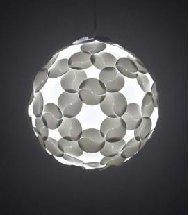 Pantalla esférica para lámpara de suspensión blanca - Ego Dama