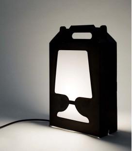 Lámpara de sobremesa de colores y reciclable - Flamp negra