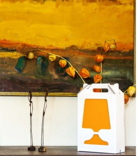 Lampe de table de couleur et recyclable - Flamp blanche