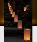 Bougeoir minimaliste en papier ignifuge - Luo