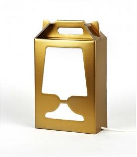 Lampe de table dorée et recyclable - Flamp or