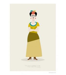 Frida Kahlo - reproduction d'art signée par l'artiste