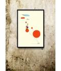 El viaje (naranja) - ilustración firmada por el artista