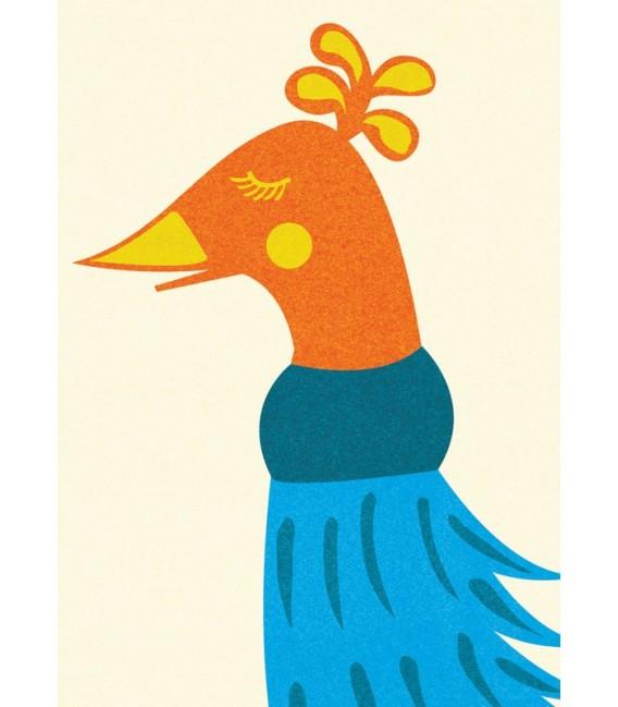 La señora Pavo Real - ilustración firmada por el artista
