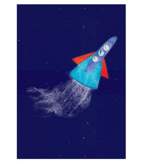 Nave espacial - ilustración firmada por el artista