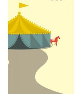 El circo - ilustración firmada por el artista