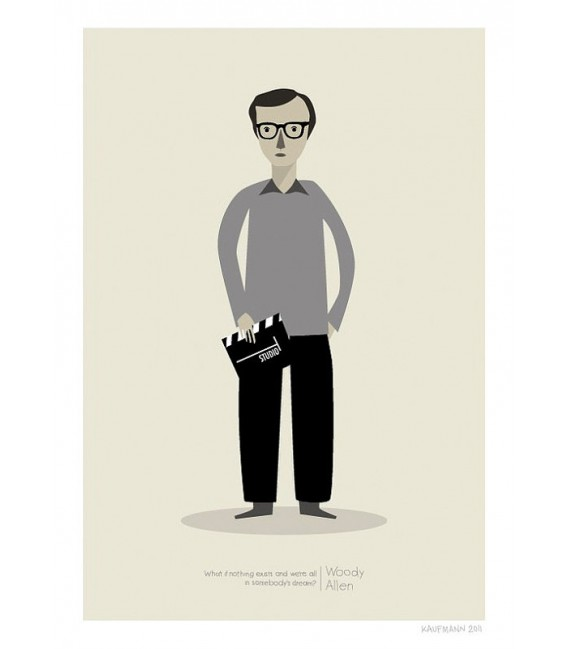 Woody Allen - reproduction d'art signée par l'artiste