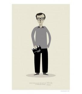 Woody Allen - ilustración firmada por el artista
