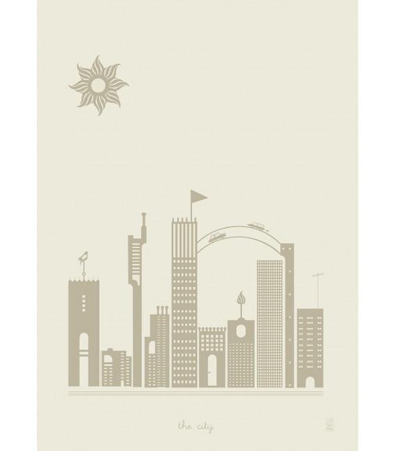 The city - reproduction d'art signée par l'artiste