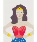 La Mujer M - ilustración firmada por el artista
