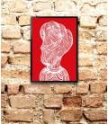 Visage rouge - reproduction d'art signée par l'artiste