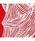 Cara roja - ilustración firmada por el artista