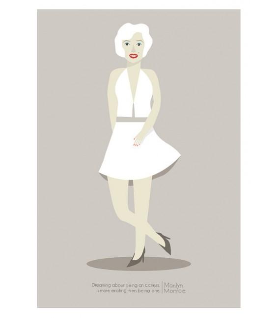 Marilyn Monroe - ilustración firmada por el artista