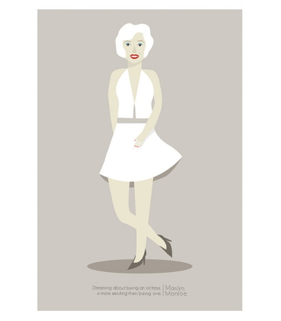 Marilyn Monroe - reproduction d'art signée par l'artiste