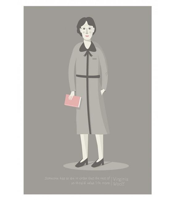 Virginia Woolf - reproduction d'art signée par l'artiste