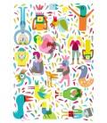 La fête - série de quatre reproductions d'art signées par l'artiste