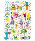 La Fiesta - serie de cuatro ilustraciones firmadas por el artista