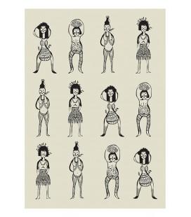 Femmes - reproduction d'art signée par l'artiste
