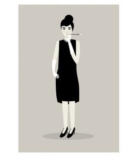 Audrey Hepburn - reproduction d'art signée par l'artiste