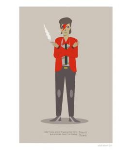 David Bowie - reproduction d'art signée par l'artiste