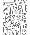 Le quartier nº2 - reproduction d'art signée par l'artiste