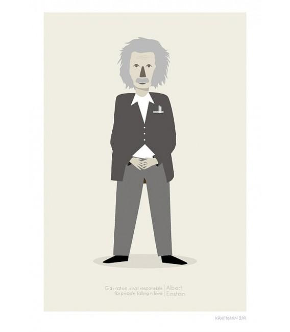 Albert Einstein - reproduction d'art signée par l'artiste