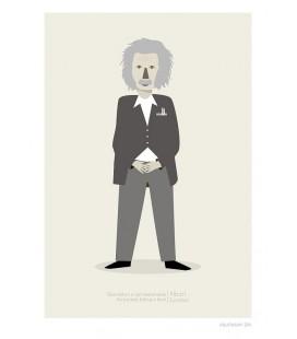 Albert Einstein - ilustración firmada por el artista
