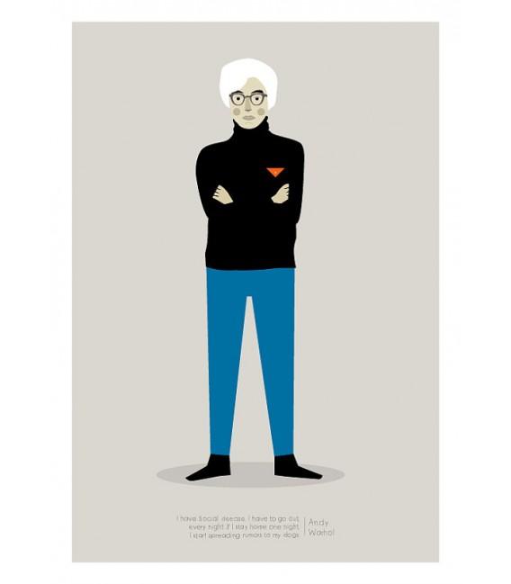 Andy Warhol - reproduction d'art signée par l'artiste