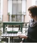 Elégante table de balcon en mosaïque vintage - Manuela