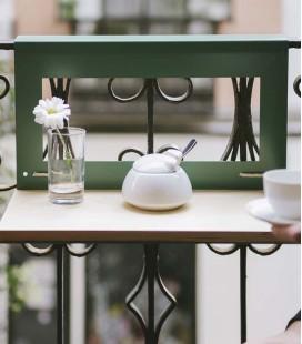 Mesa colgante para balcón con baldosas hidraúlicas- Manuela