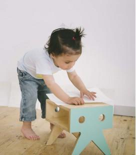 Mini-tabouret en bois pour enfant - Collection Walrus