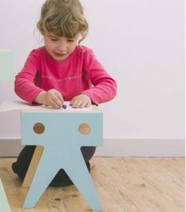 Tabouret pour enfant en bois au design coloré - Walrus