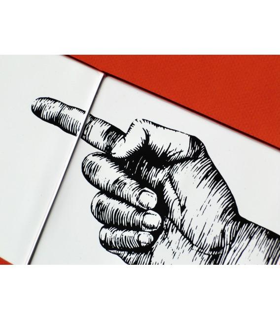 """Décoration murale originale en céramique - signalétique """"à gauche"""""""