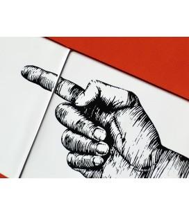 """Mural original de cerámica- señalización """"izquierda"""""""