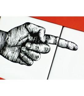 """Mural original de cerámica- señalización """"derecha"""""""