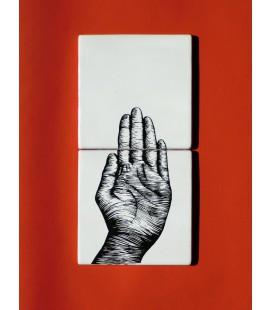 """Mural original de cerámica- señalización """"stop"""""""