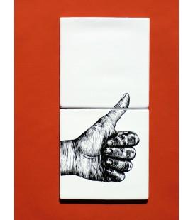 """Décoration murale originale en céramique - signalétique """"OK"""""""