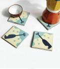 Dessous de verre originaux et décalés en céramique - mixeurs